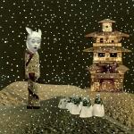 Martian Concubine - Mixed Media Collage